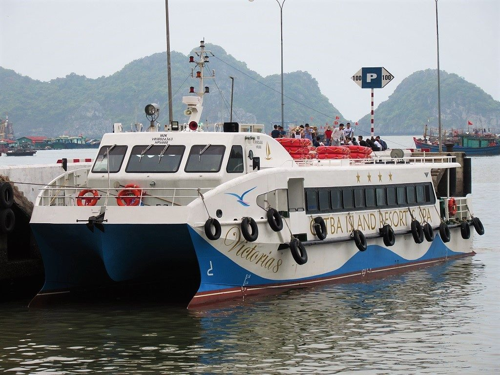The Hai Phong-Cat Ba Island fast ferry, Vietnam