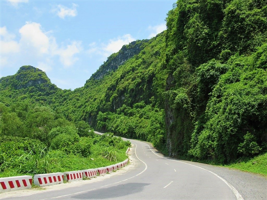 Cat Ba Island's roads are now mostly very good