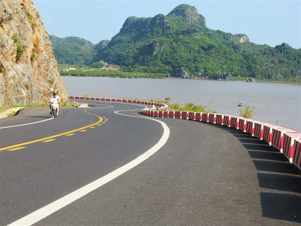 Coast road on Cat Ba Island, Vietnam