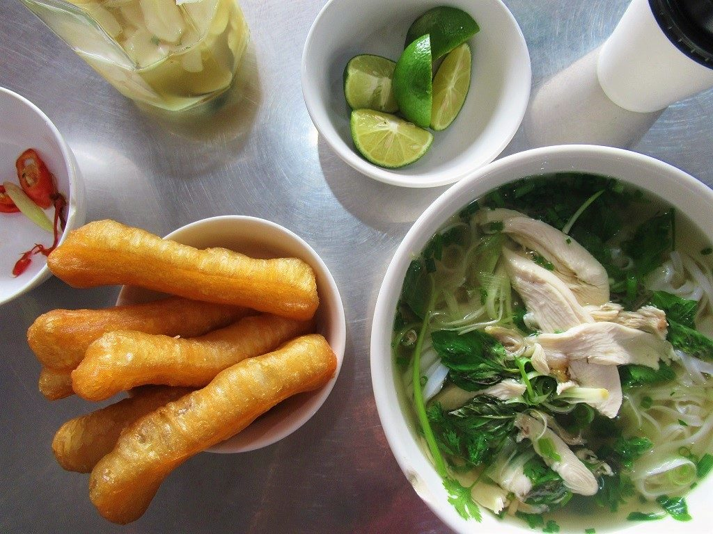 A bowl of pho noodle soup at Phuong Anh, Cat Ba Island, Vietnam