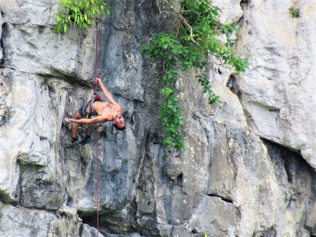Rock climbing in Butterfly Valley, Cat Ba Island, Vietnam