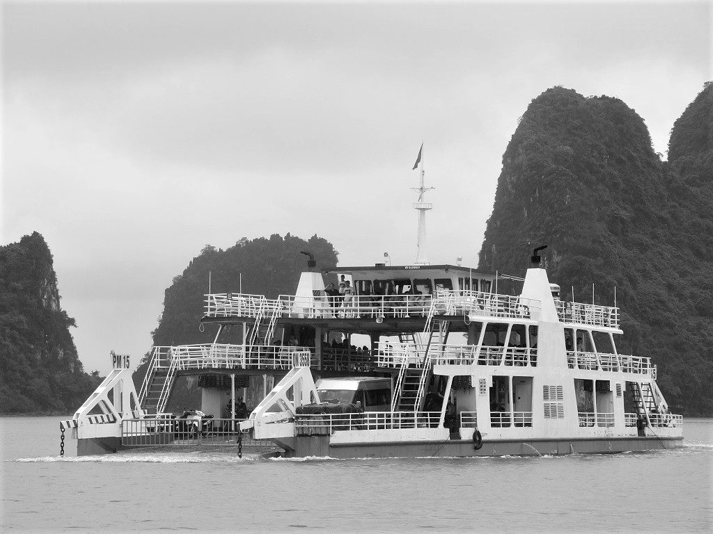 The Tuan Chau-Cat Ba Island ferry, Vietnam