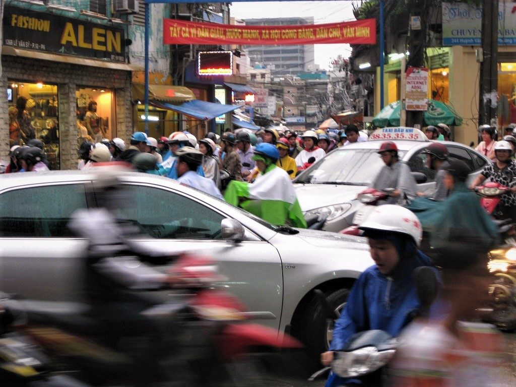 Rush hour traffic, Saigon (Ho Chi Minh City), Vietnam