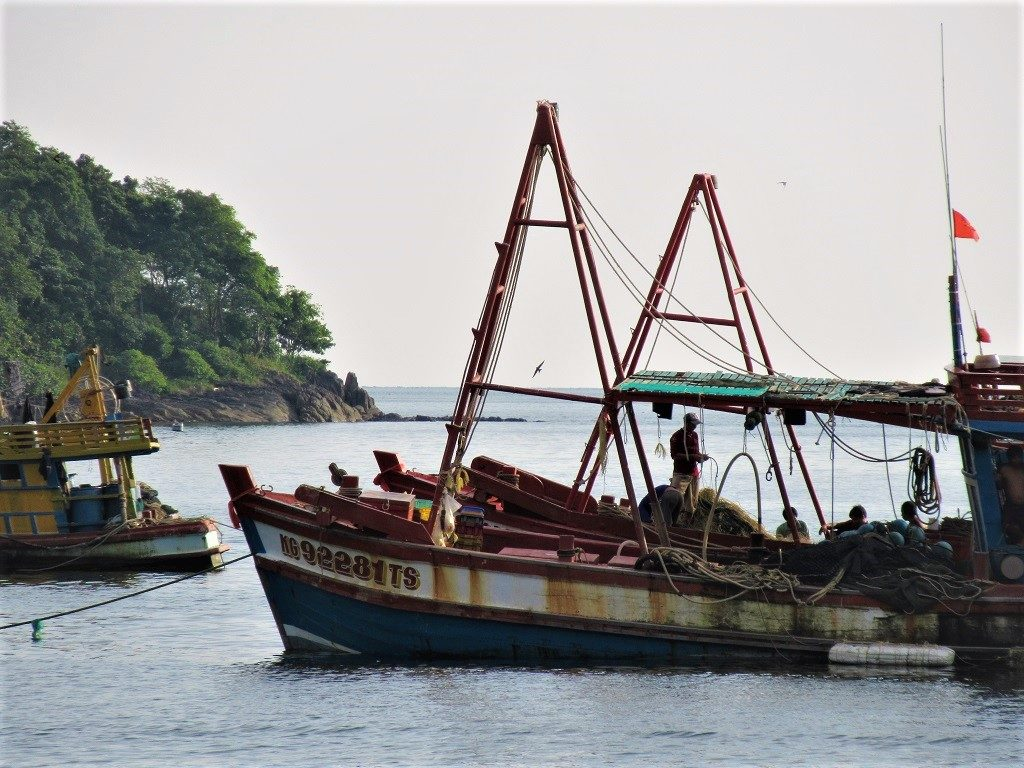 Fishing boats, Pirate Islands, Hai Tac Archipelago, Vietnam