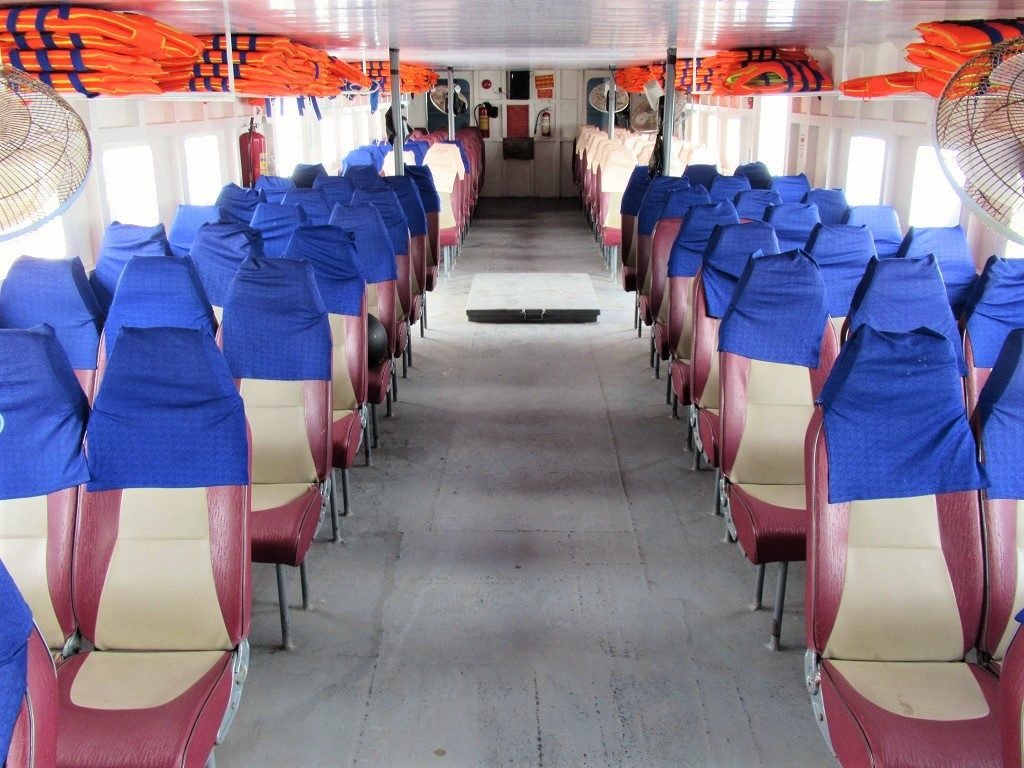 Seating on the boat from Ha Tien to Pirate Island (Dao Hai Tac), Vietnam