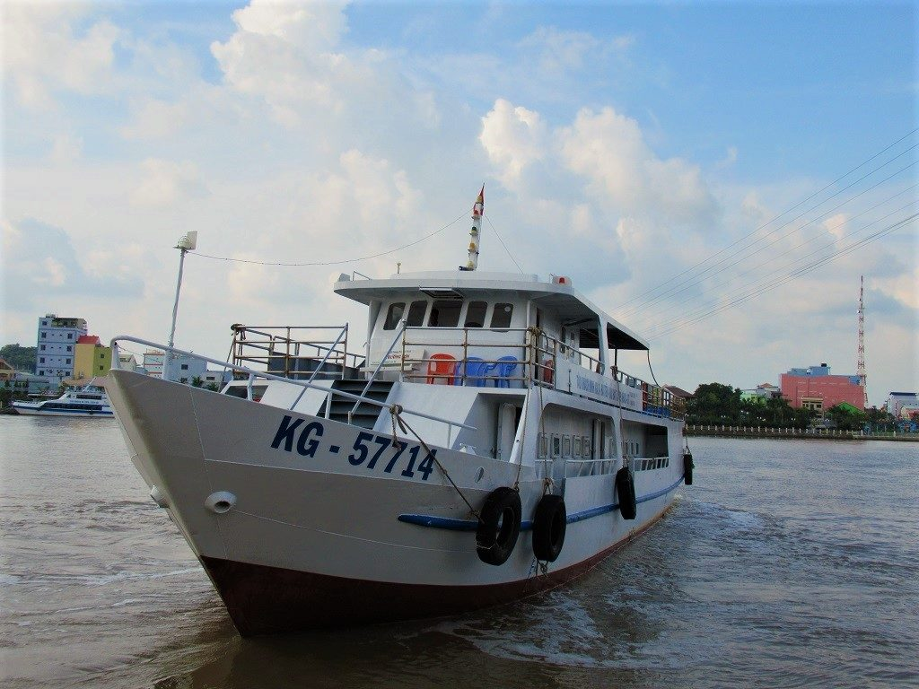 The boat from Ha Tien to Pirate Island (Dao Hai Tac), Vietnam