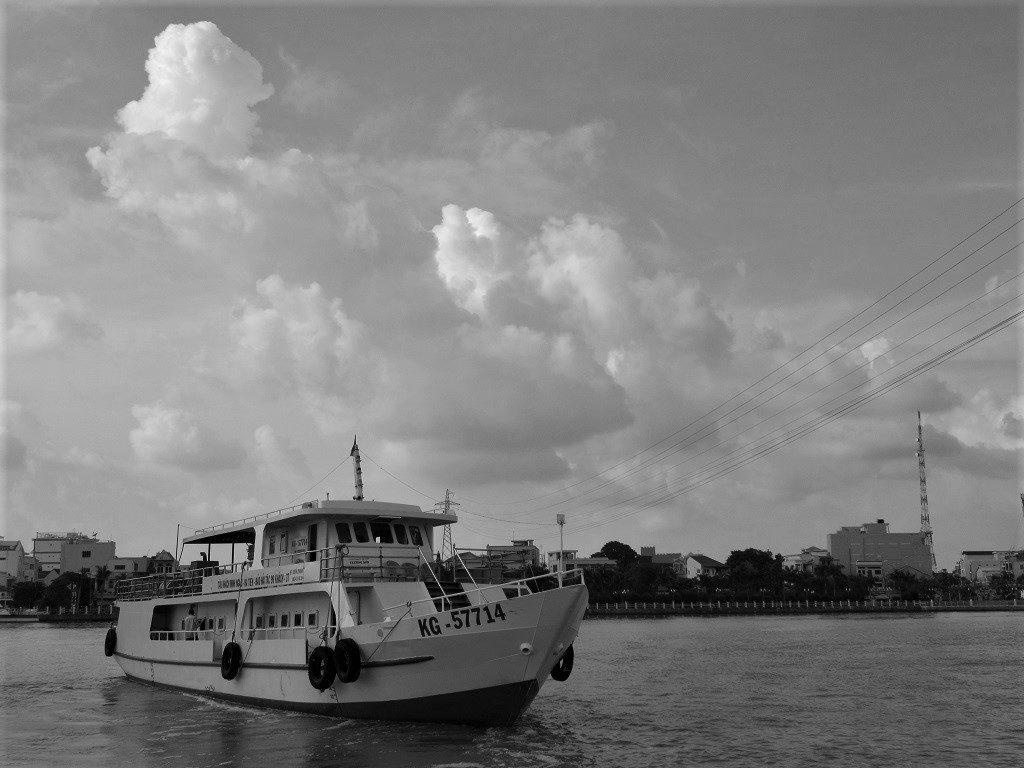 Taking the boat from Ha Tien to Pirate Island (Dao Hai Tac), Vietnam