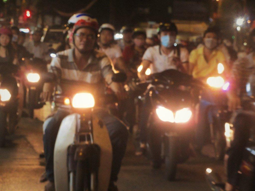 Rush hour traffic, Saigon, Ho Chi Minh City, Vietnam