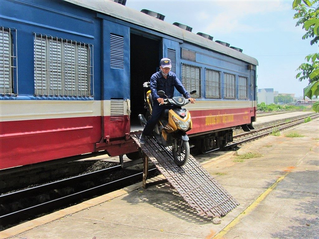 Put you motorbike on the train & avoid riding in/out of the big cities, Vietnam