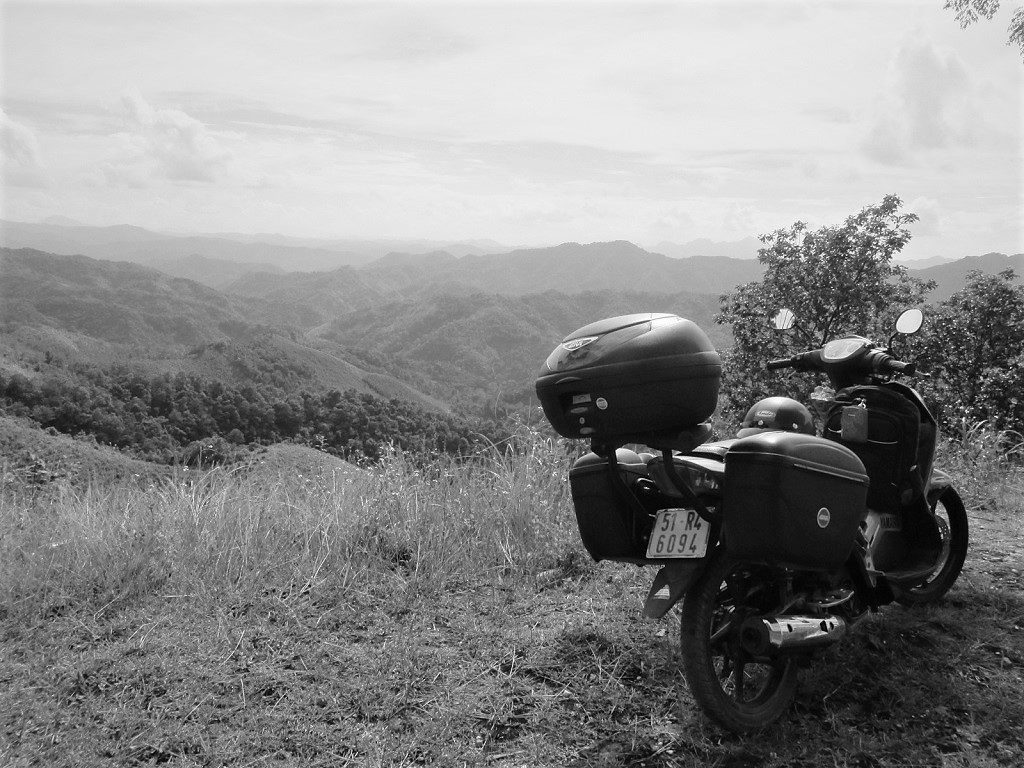 Riding by motorbike in Vietnam's northeast