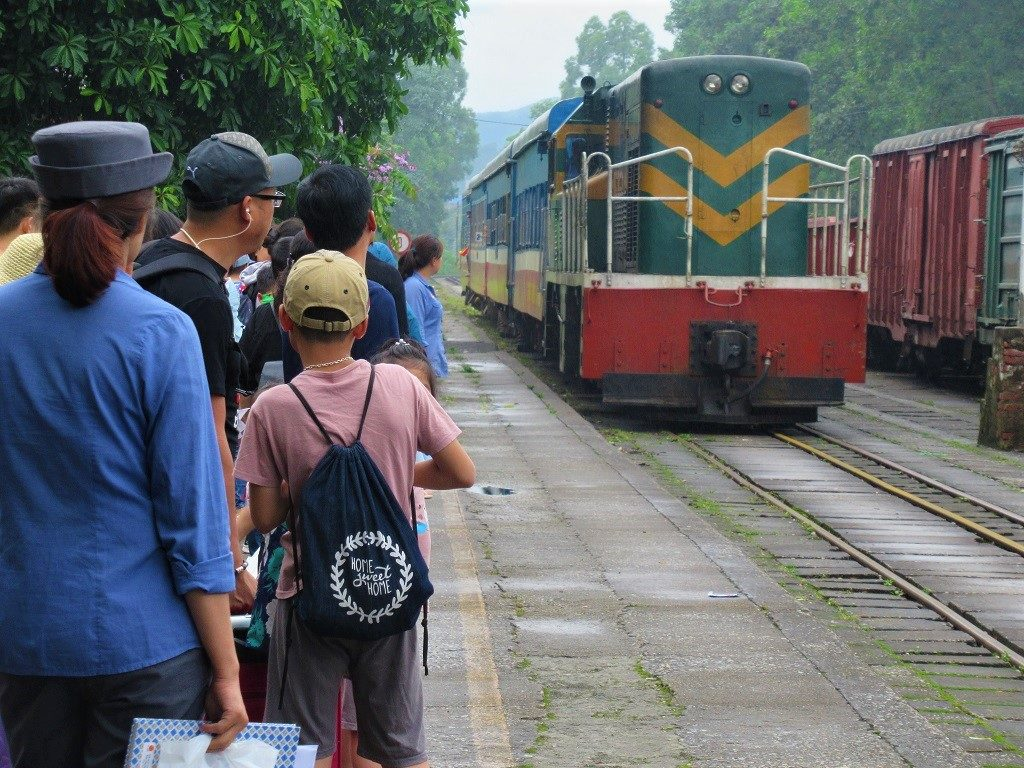 A Hanoi bound train at Lang Son Station, Vietnam