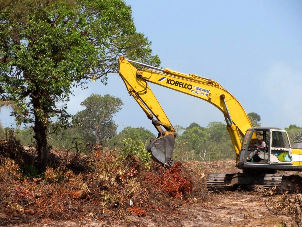 Clearing the forest for large resort development, Phu Quoc Island, Vietnam