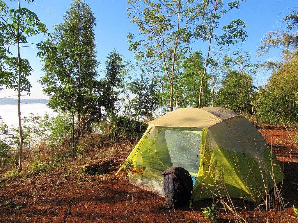 Camping near the Dong Nai River, Dak Nong Province, Vietnam