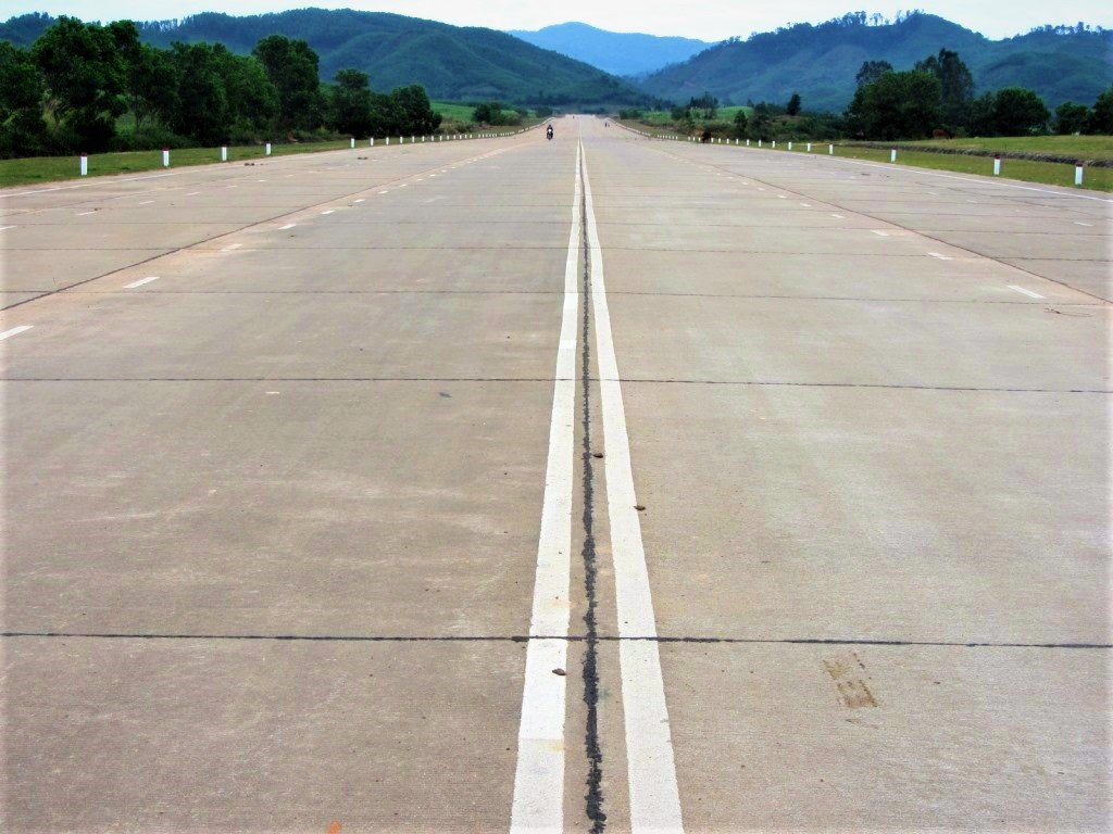 The 'airstrip' near M'Drak on the Truong Son Dong Road, Vietnam