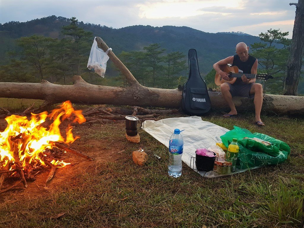 Songs around the campfire, Dalat, Vietnam