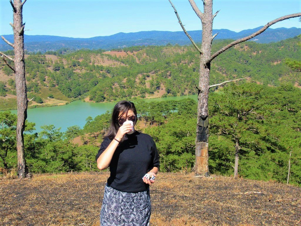 Morning coffee in the pine forests, Dalat, Vietnam