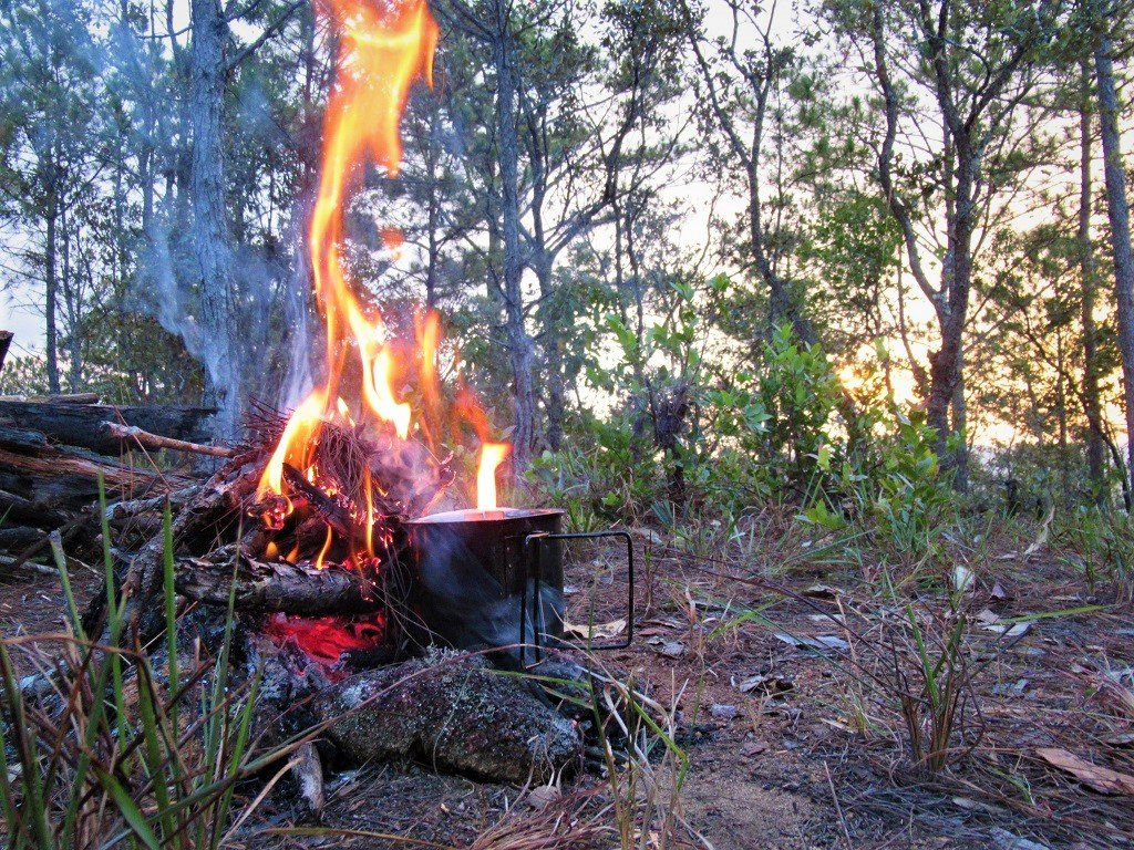 Cooking on the campfire, Dalat, Vietnam