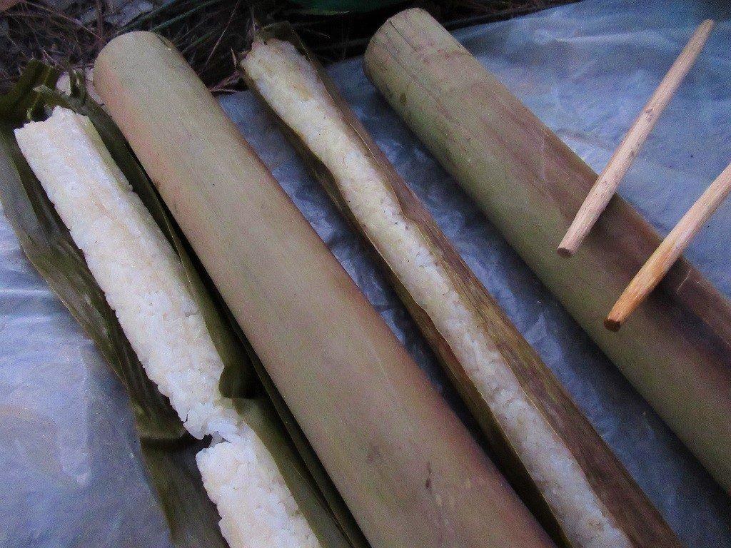 Bamboo sticky rice (cơm lam), Dalat, Vietnam