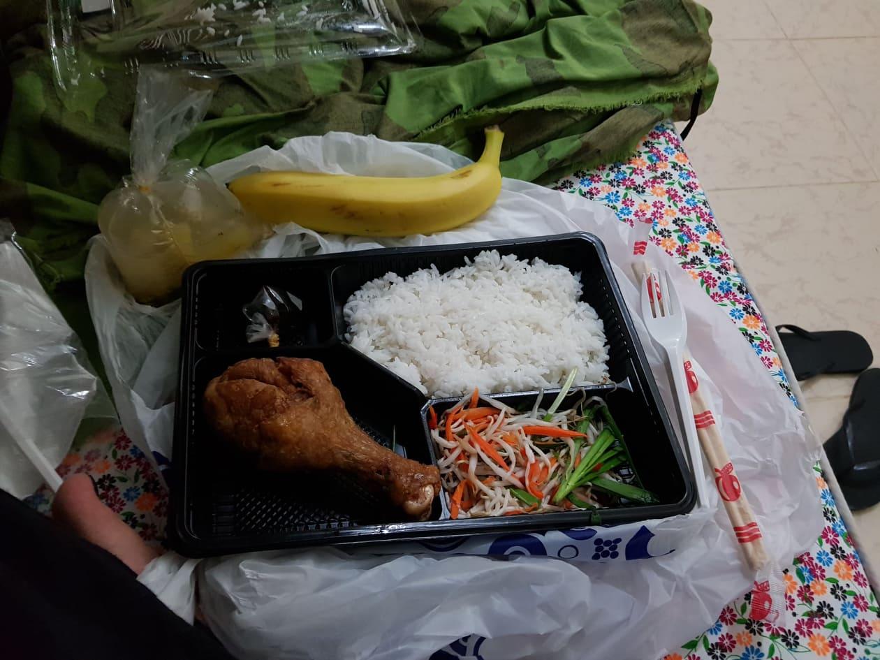 Rice meal, COVID-19 quarantine facility, Vietnam