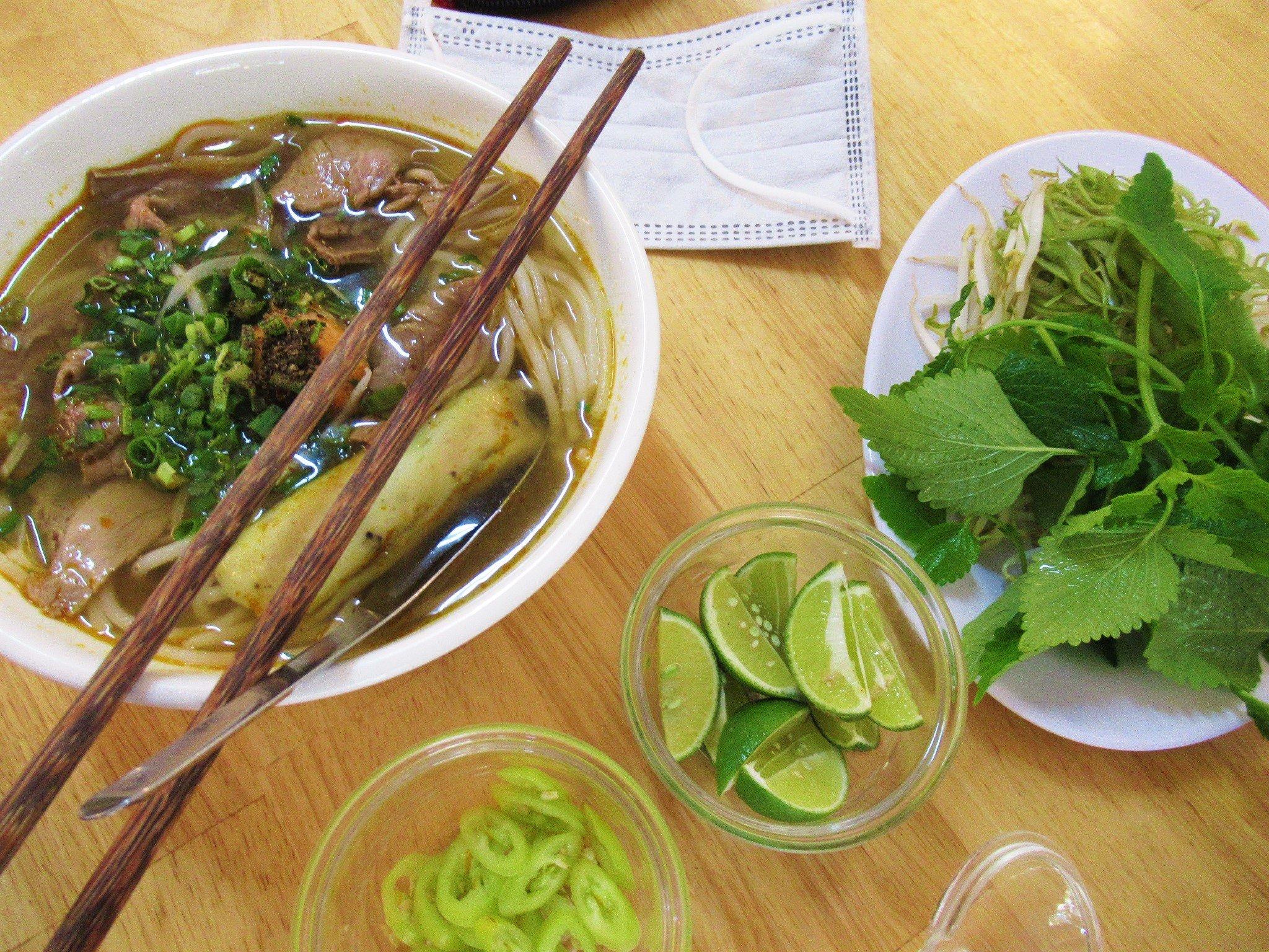 Bún bò Huế, Hue-style beef noodle soup, Vietnam