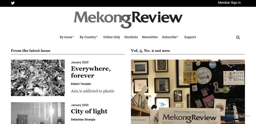 Mekong Review homepage