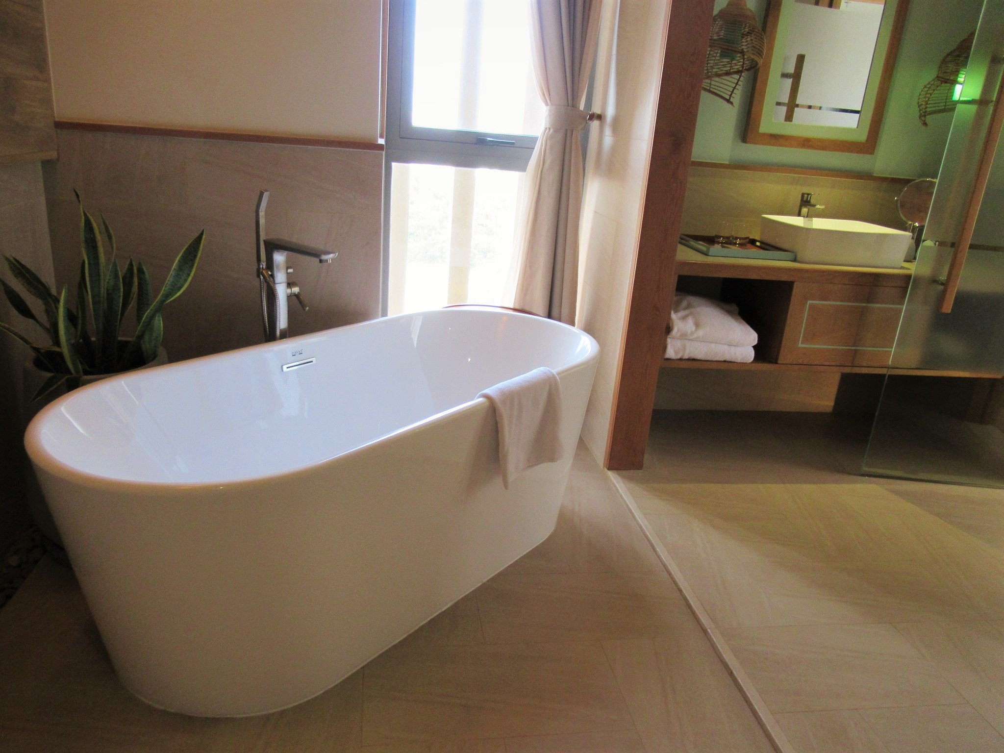 Bathroom in guest room at Fusion Suites Vung Tau
