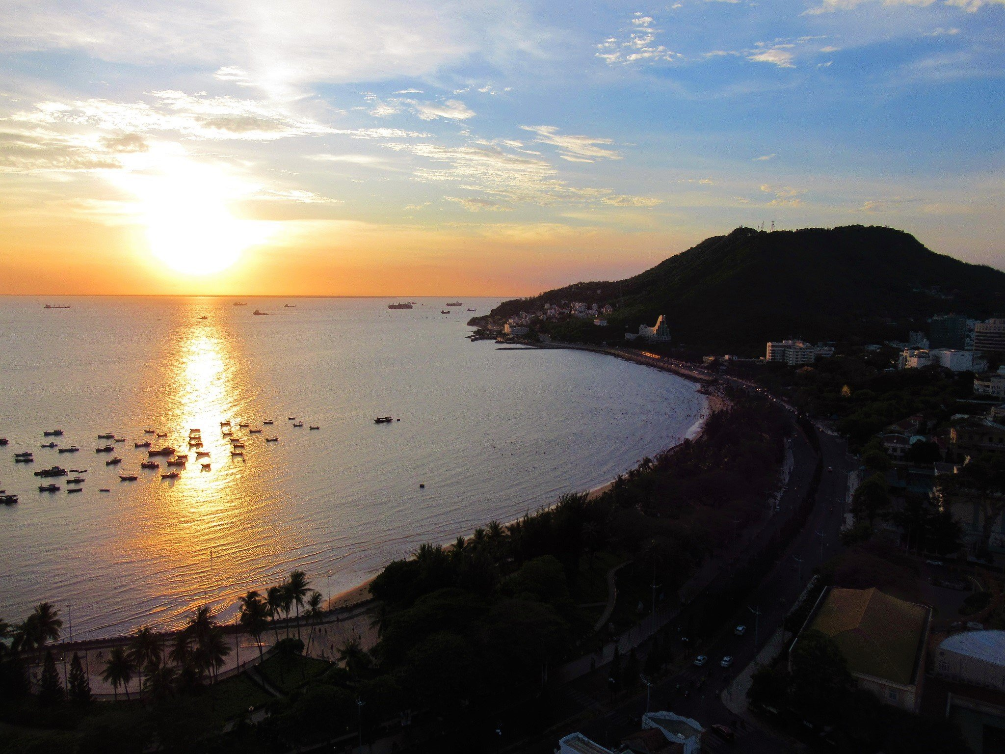 Vung Tau seen from the Breeze rooftop sky bar at Fusion Suites