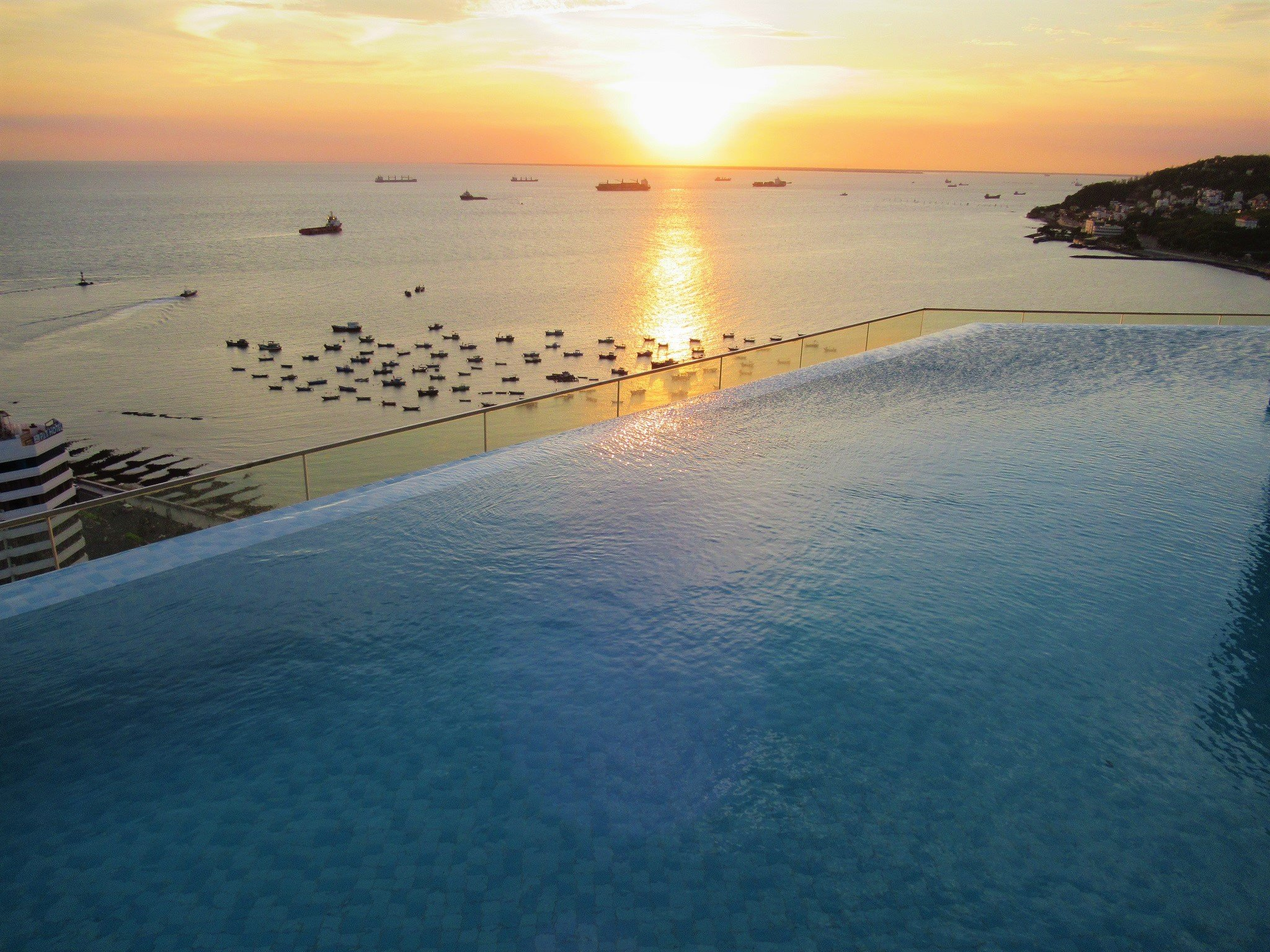 Rooftop infinity swimming pool at Breeze sky bar, Fusion Suites Vung Tau
