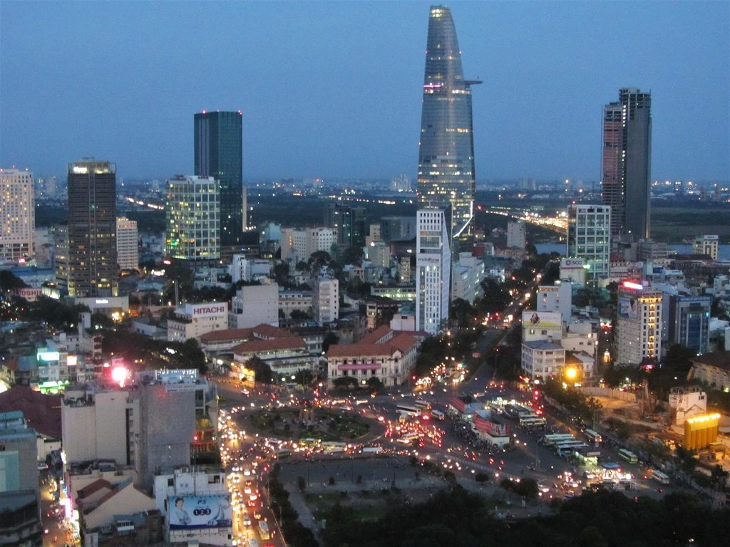 Saigon (Ho Chi Minh City) at night, Vietnam