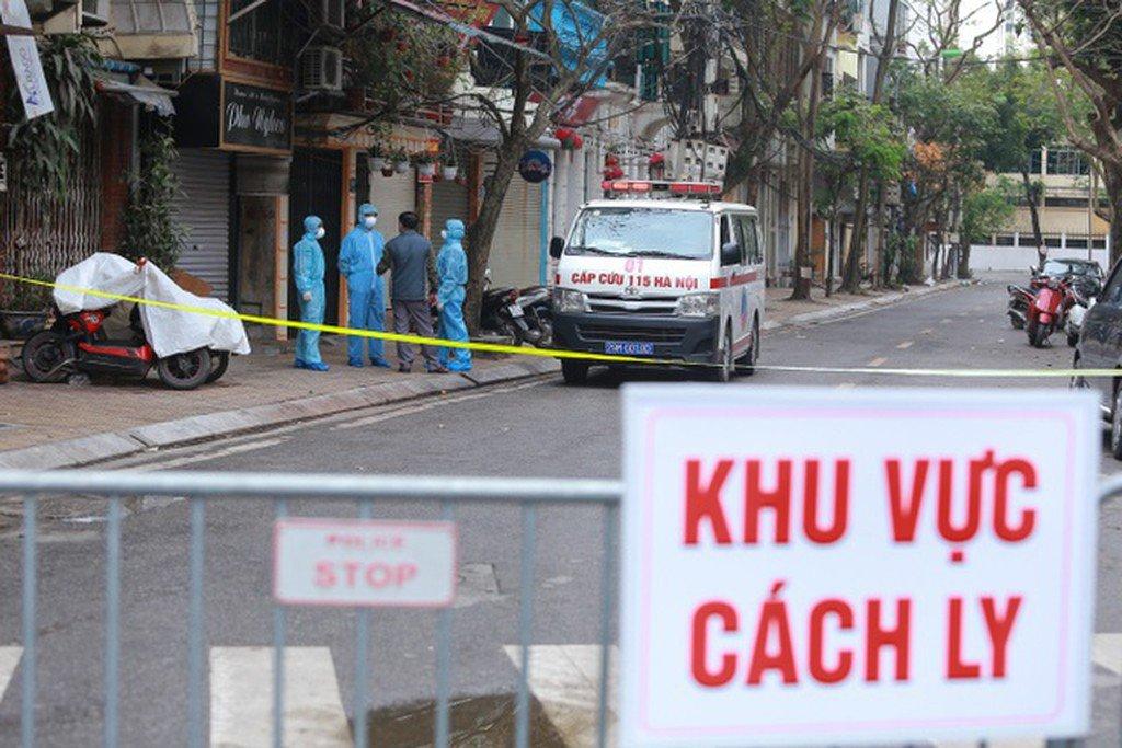 A quarantined street, Vietnam