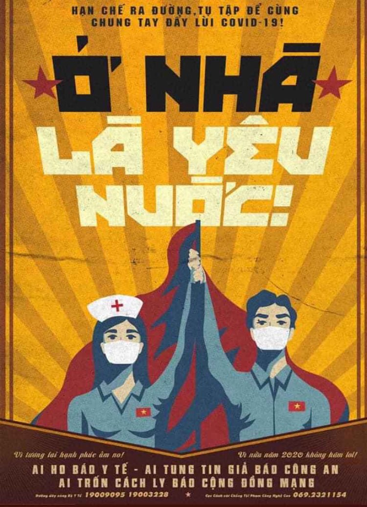 Vietnamese 'Covid awareness campaign' poster, Vietnam