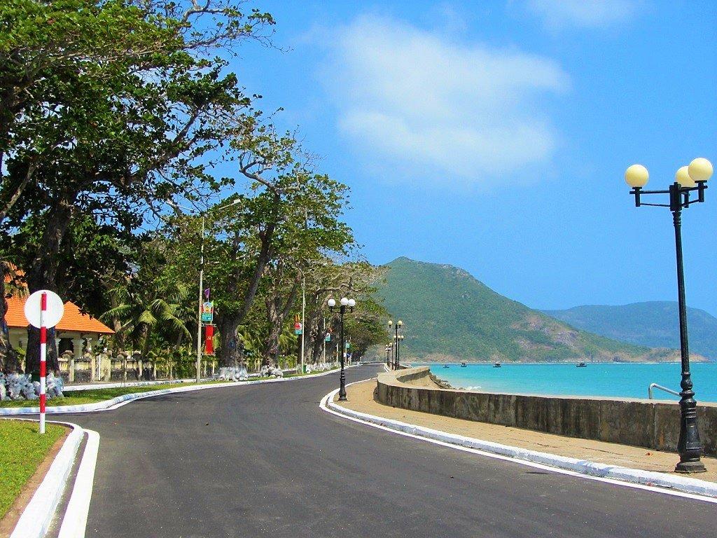 Seafront road, Con Son town, Con Dao Islands, Vietnam
