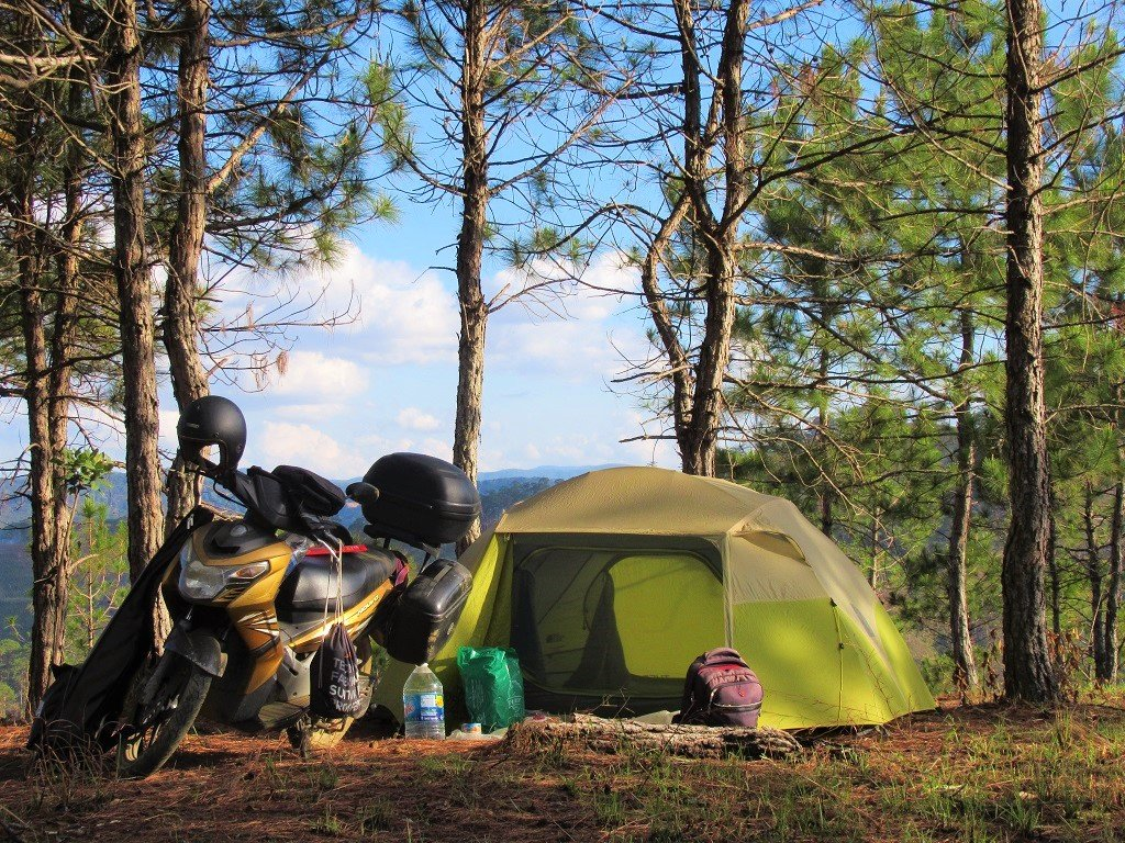 Camping in the Central Highlands, Vietnam