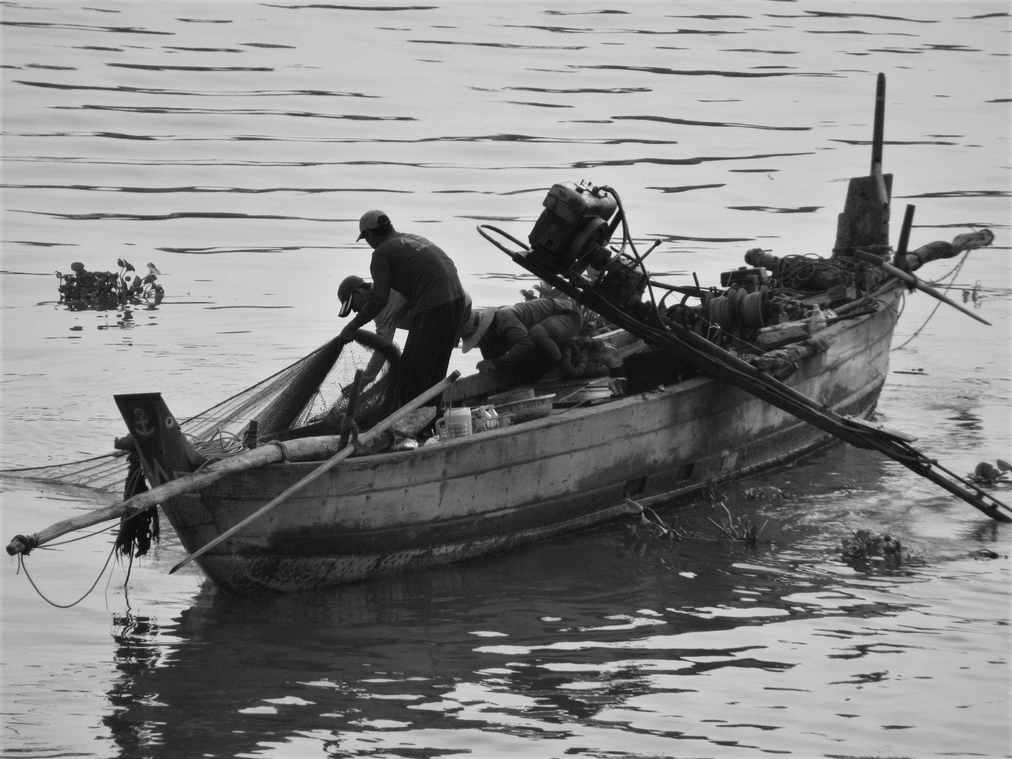Fishing boat of the Mekong River, Vietnam