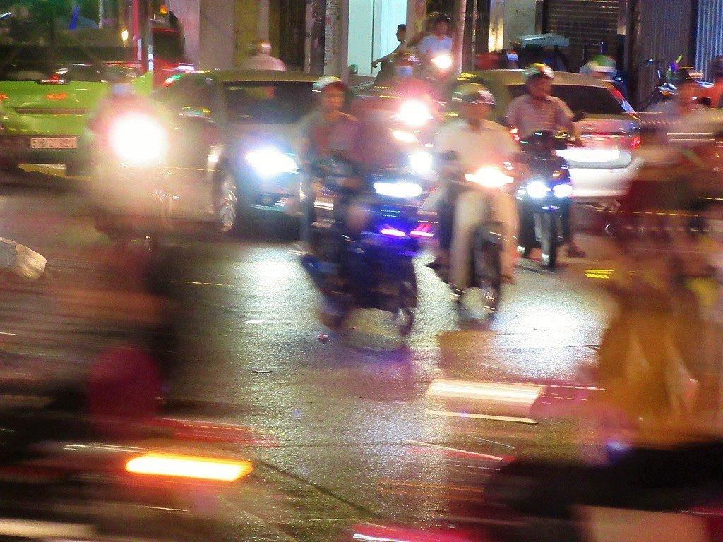 Traffic on the streets in Saigon (Ho Chi Minh City), Vietnam