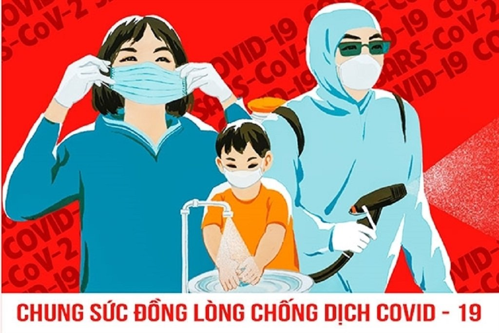 A Covid-19 awareness campaign poster, Vietnam
