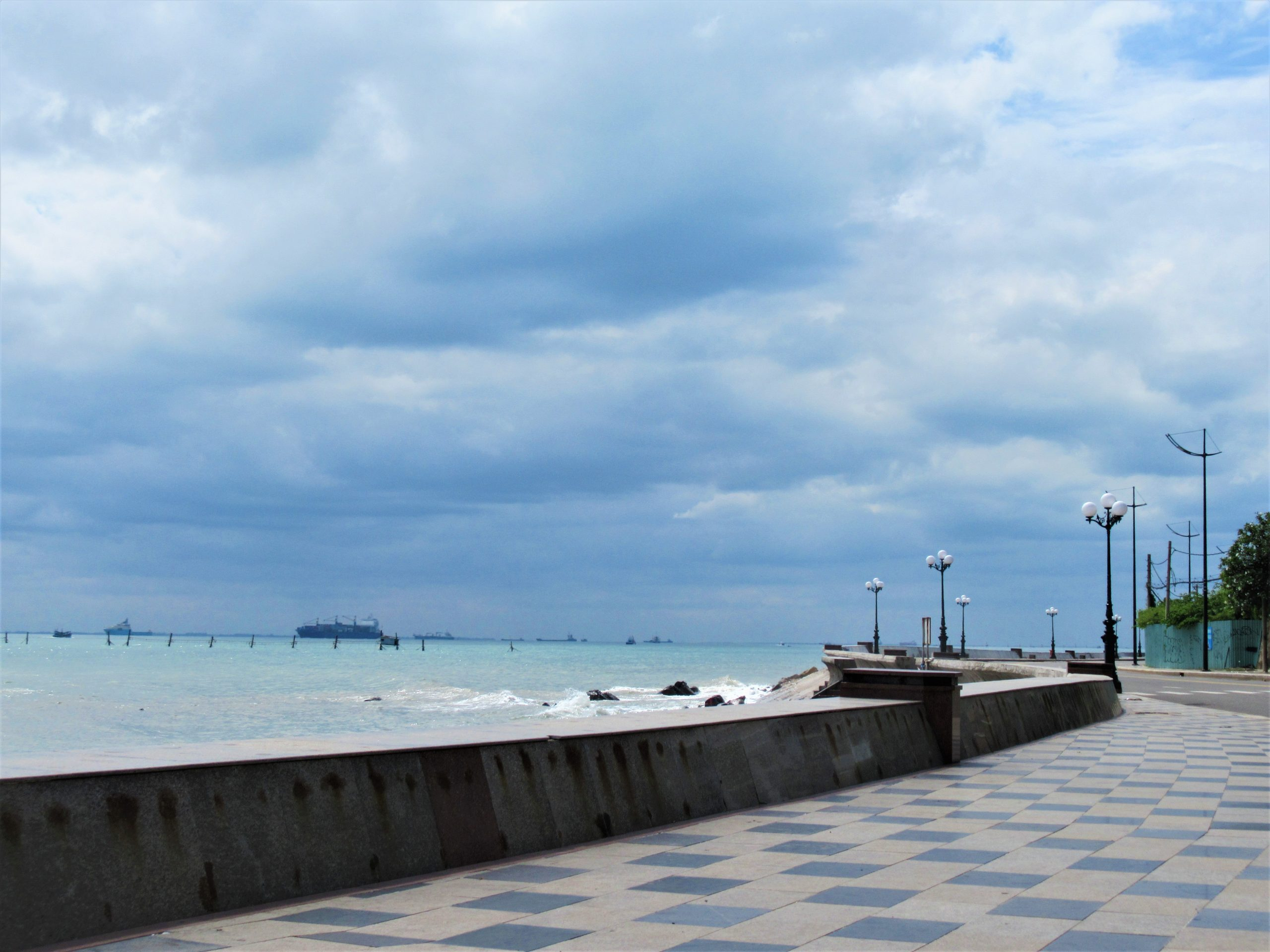Empty: the seafront road in Vung Tau, Vietnam