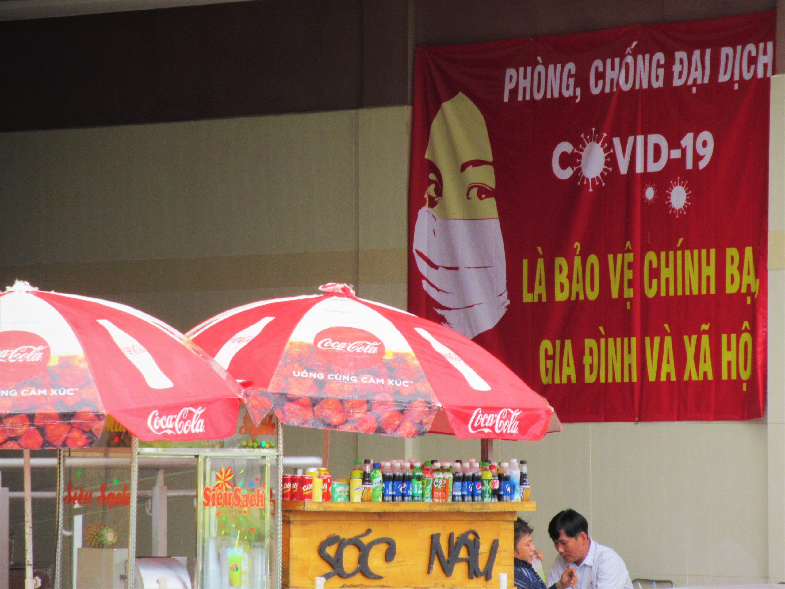A government Covid-19 awareness poster, Vietnam