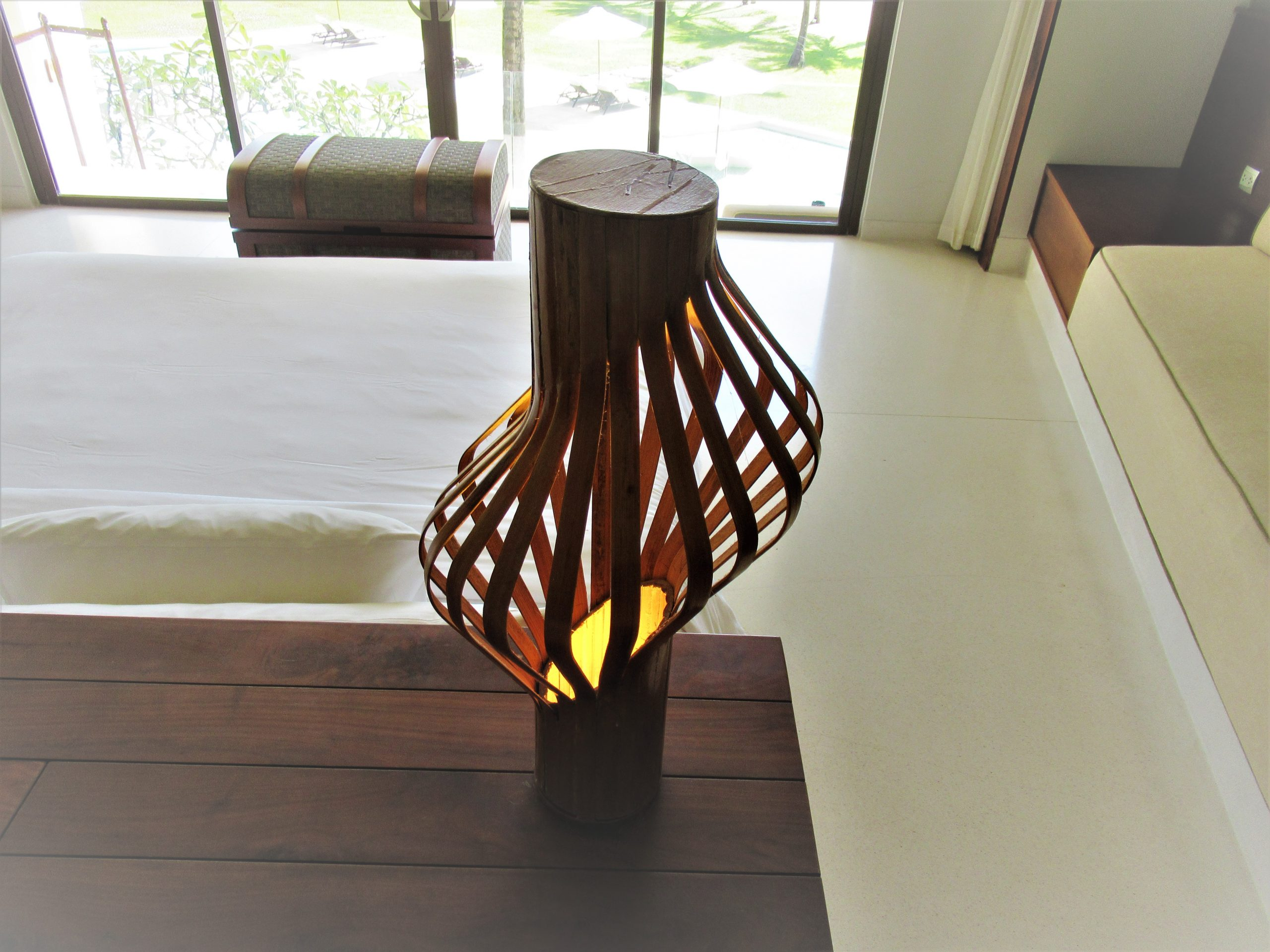 Lampshade in guest room, The Shells Resort, Phu Quoc Island, Vietnam