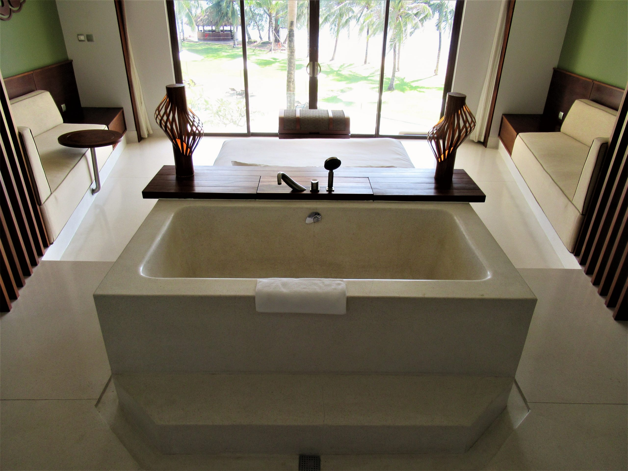 Bathtub in guest room, The Shells Resort, Phu Quoc Island, Vietnam