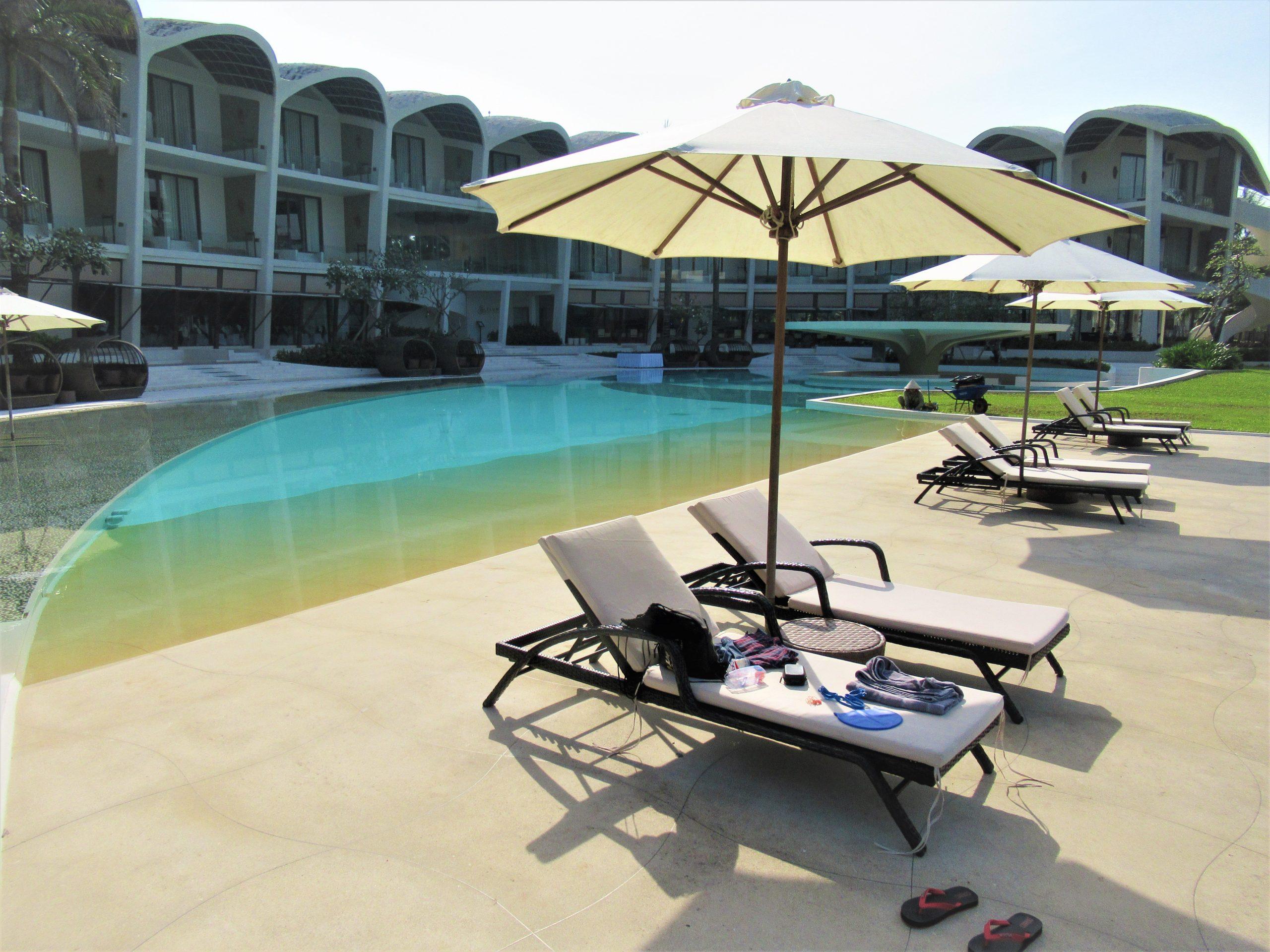 Main swimming pool, The Shells Resort, Phu Quoc Island, Vietnam
