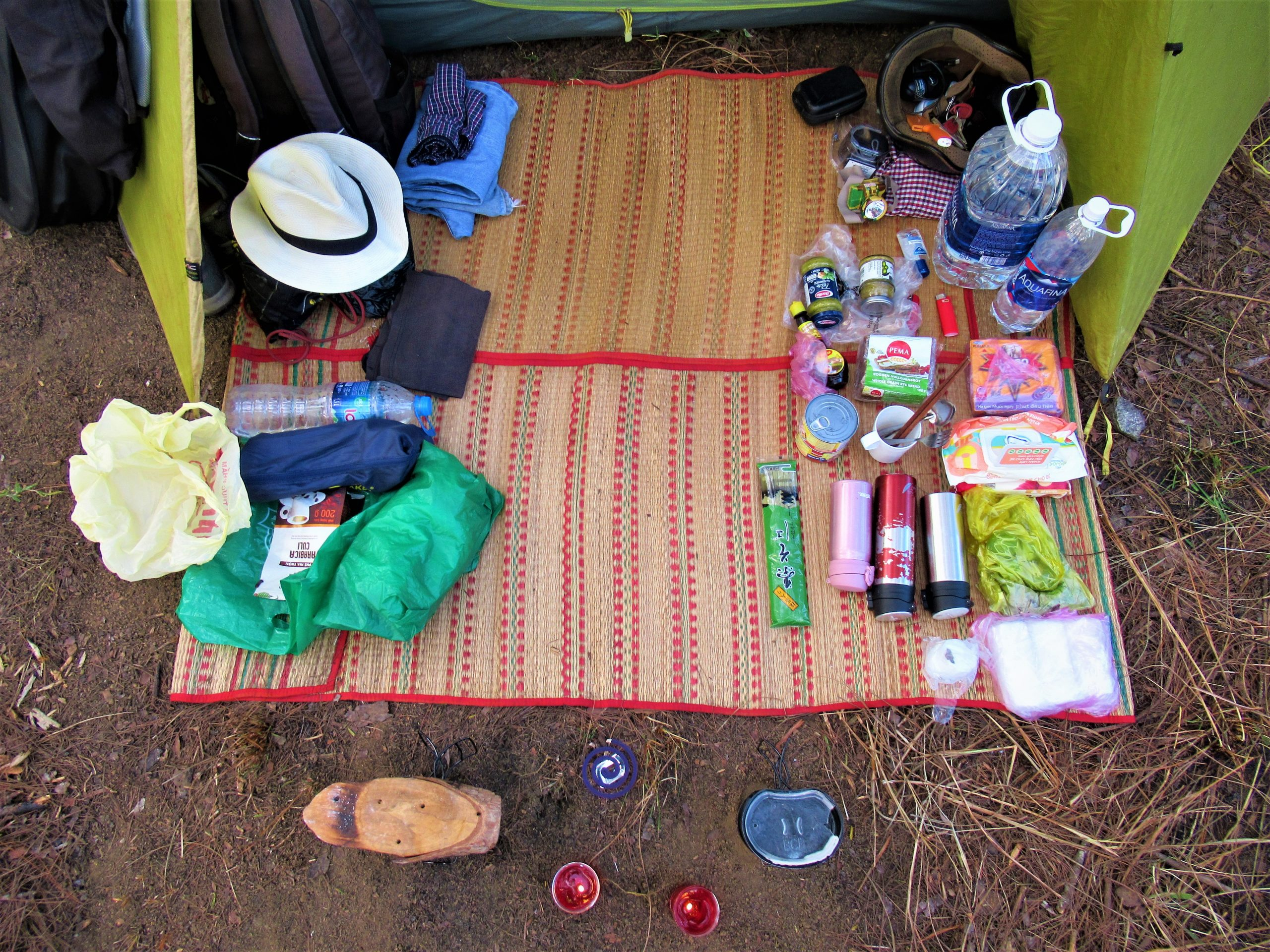 Equipment-check for motocamping in Vietnam