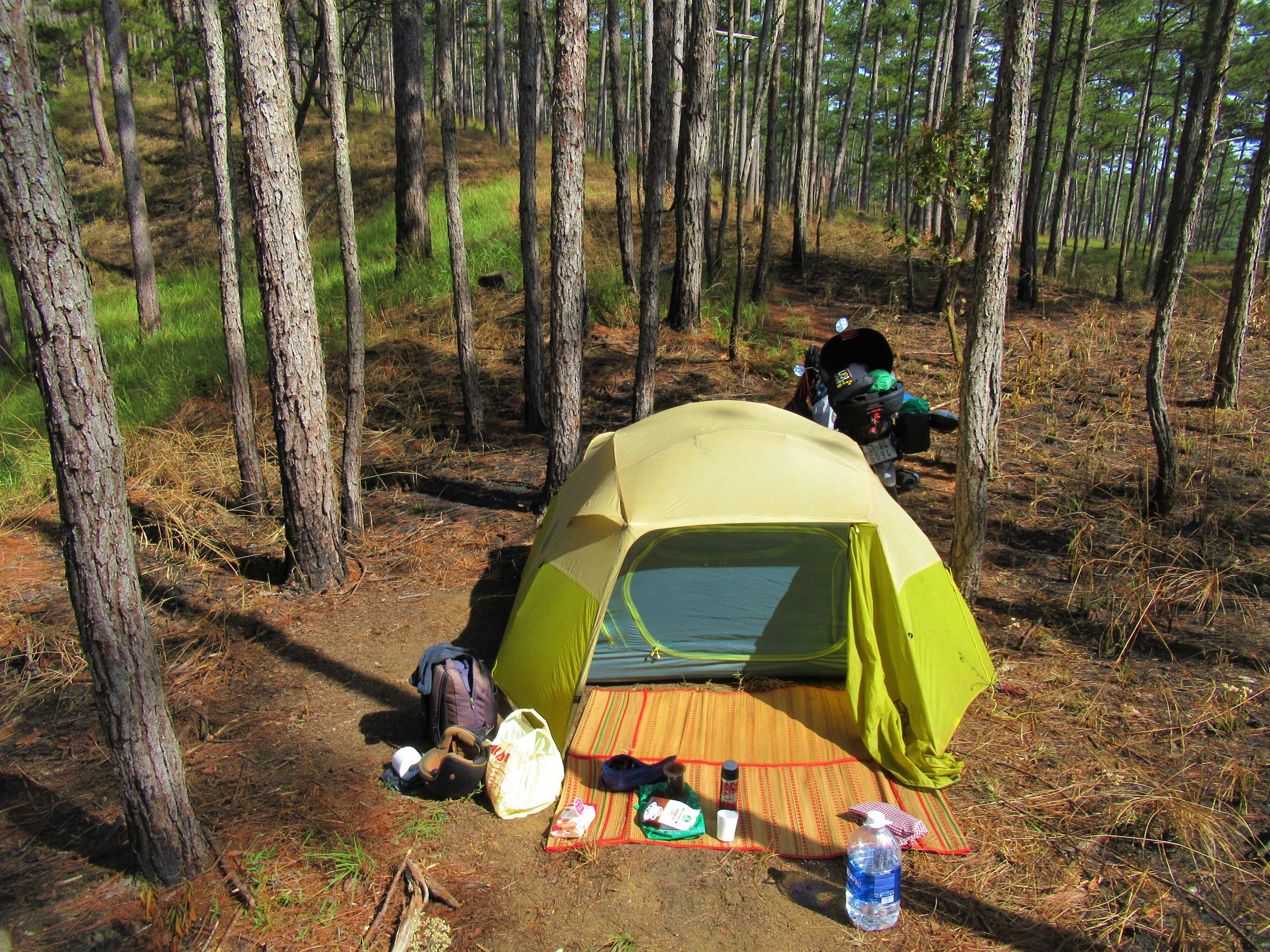Motocamping in south-central Vietnam in the dry season