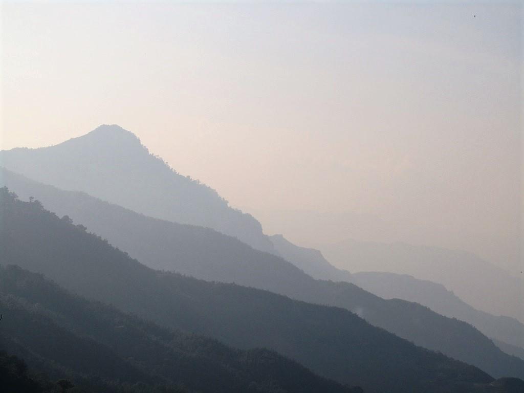 Mountains towards China