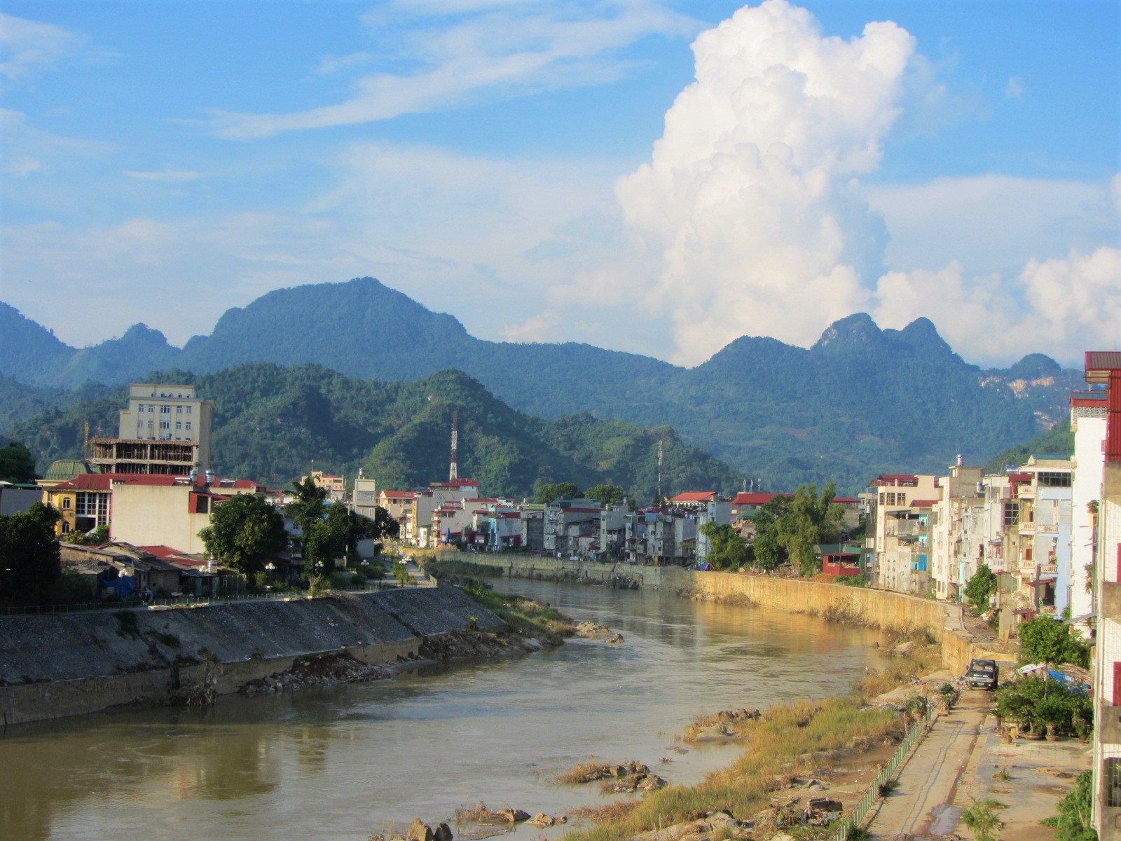 Ha Giang City on the Lo (Blue) River