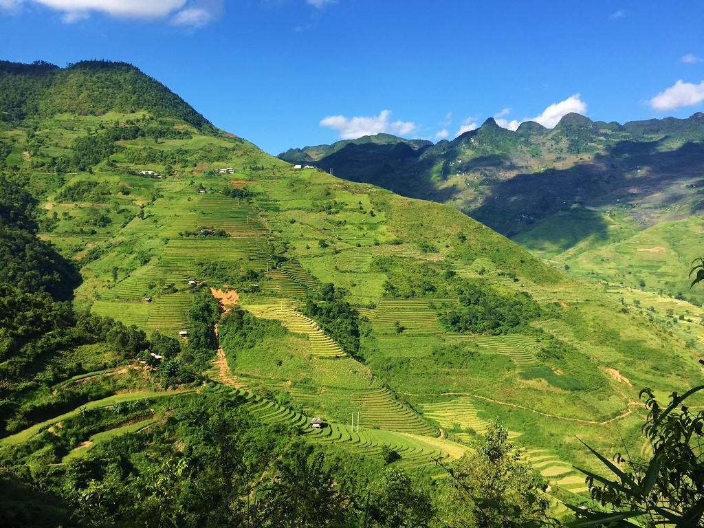 View from Road QL4C, eastern Ha Giang Province