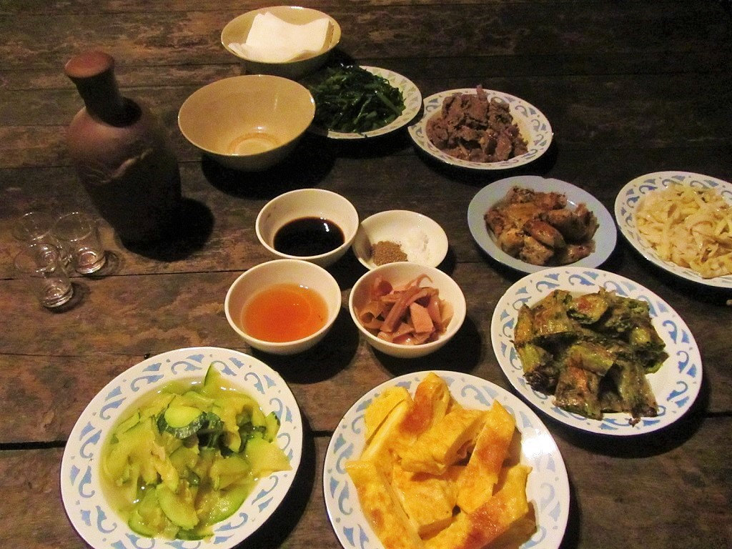 A homestay meal in Dong Van