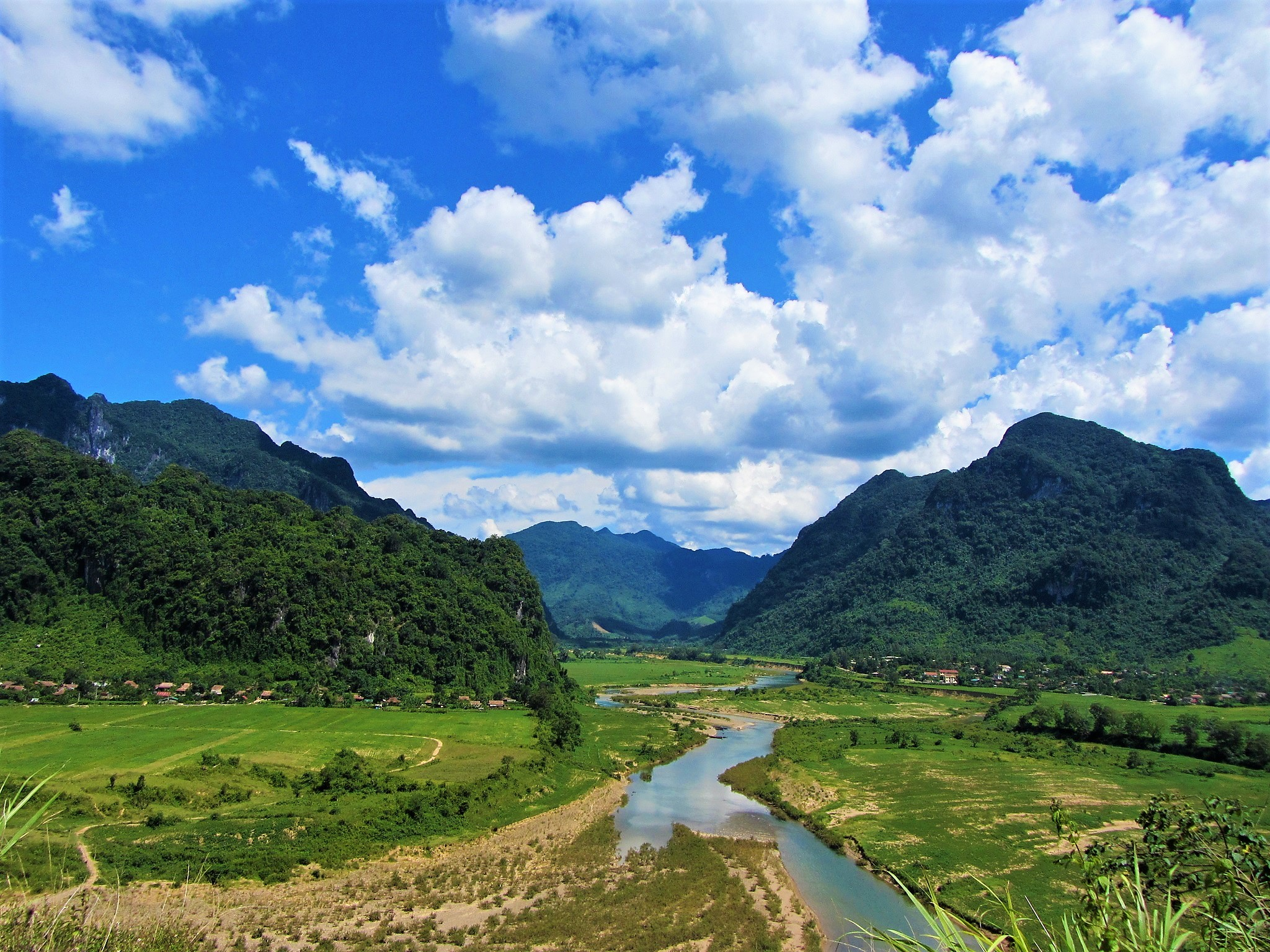 The gorgeous Long Dai River Valley, location of the Only Hotel on the Western Ho Chi Minh Road, Central Vietnam