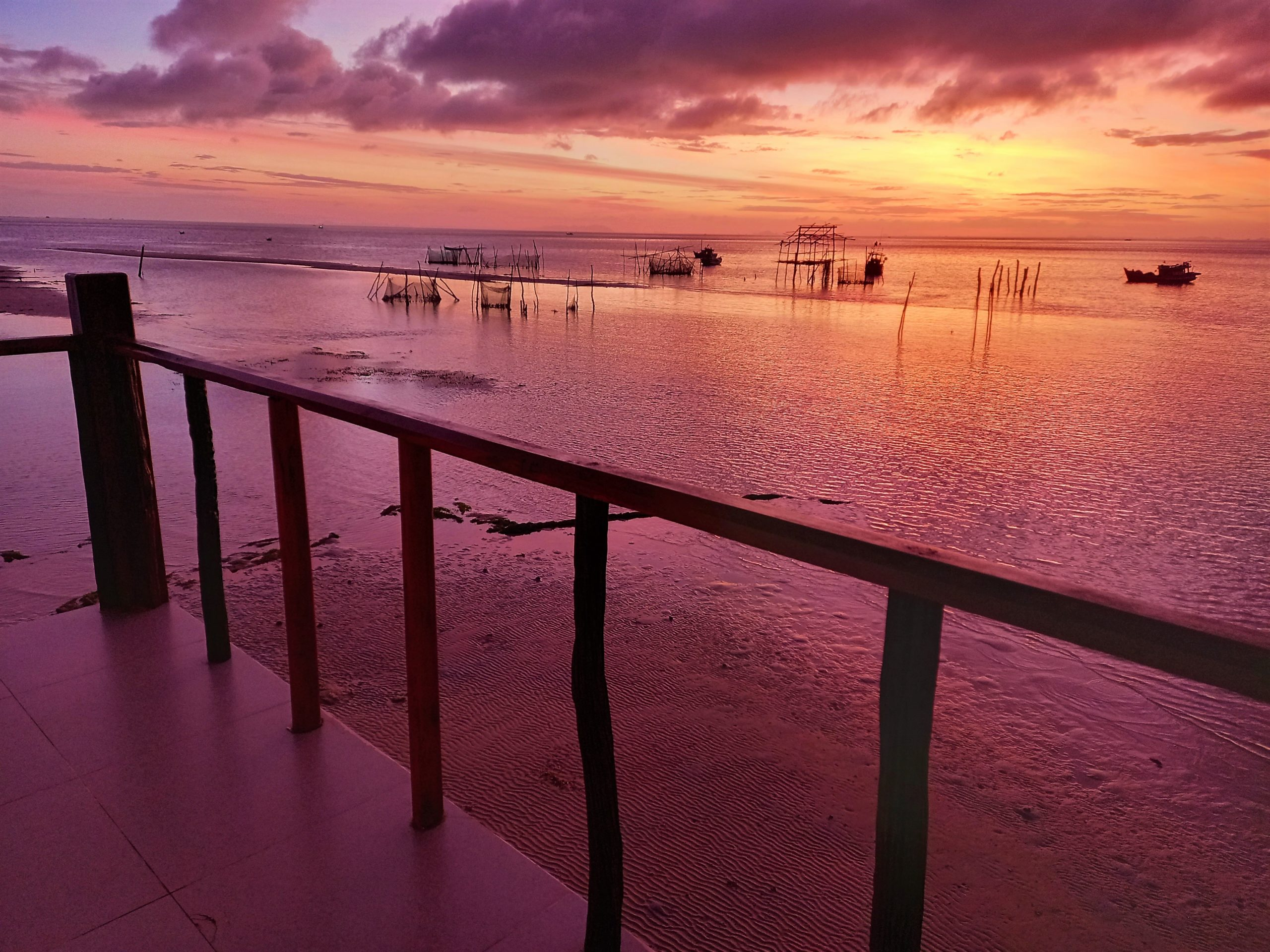 Sunrise from a Sea Bungalow at The Pier