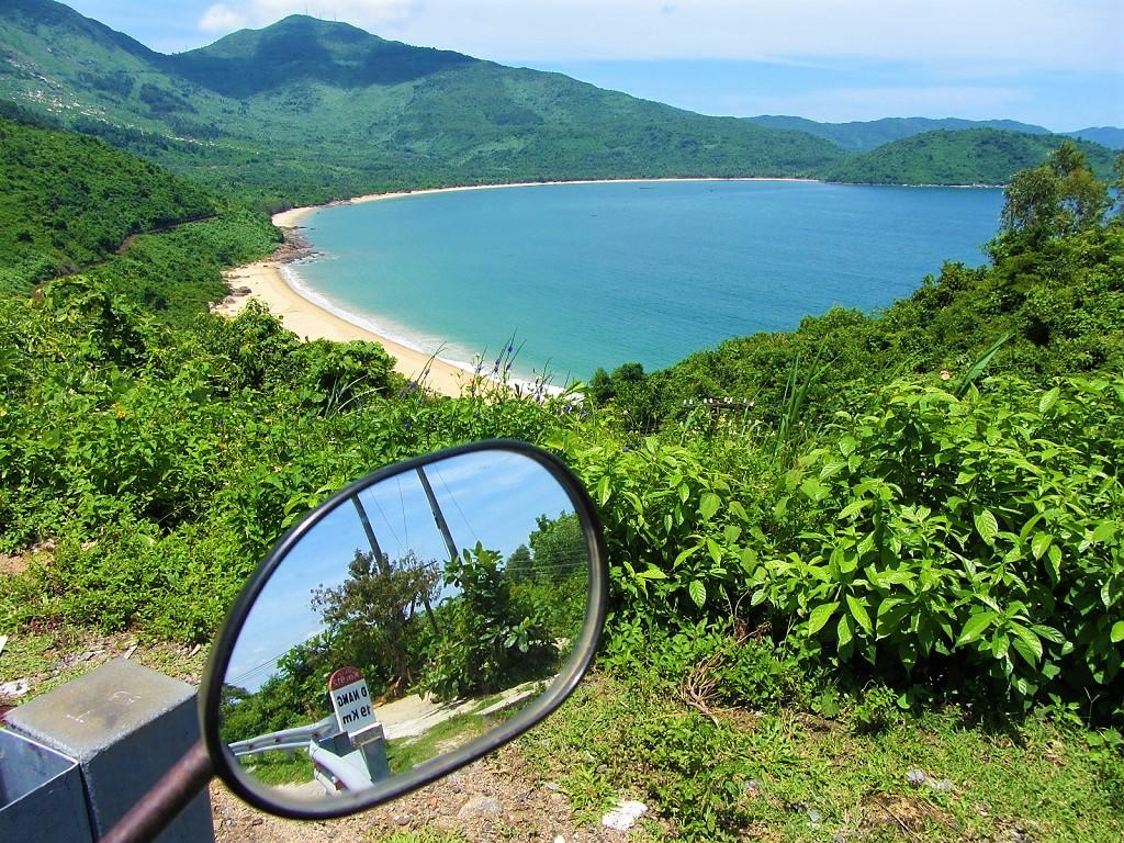 Beach views from the Hai Van Pass, Central Vietnam